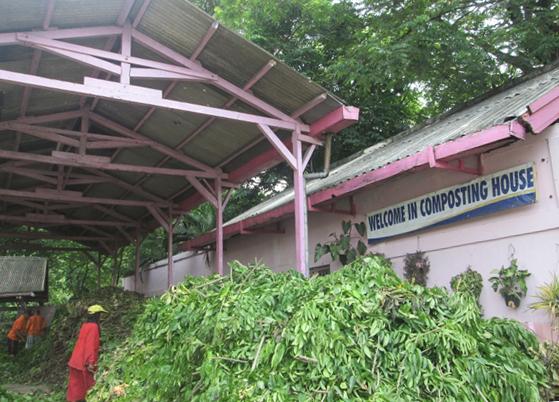 Rumah Kompos di Kawasan Bratang Surabaya (Foto: Yustiana Candrawati)