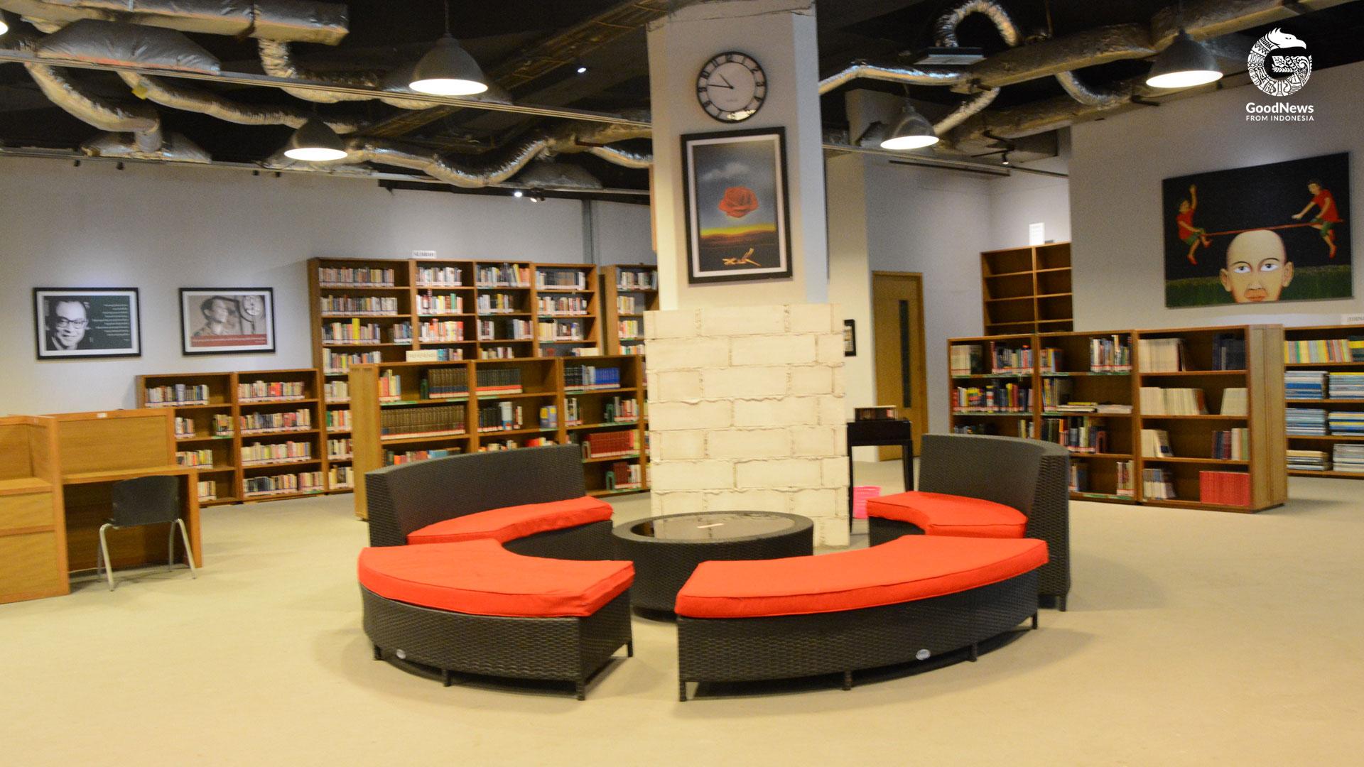 Fasilitas di Perpustakaan Freedom | Foto: Novita Caesaria/GNFI