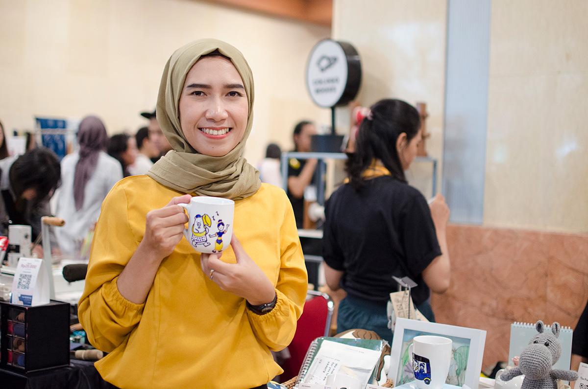 Umi Marchamah, owner Mayyumi Glass | Foto: Moselo