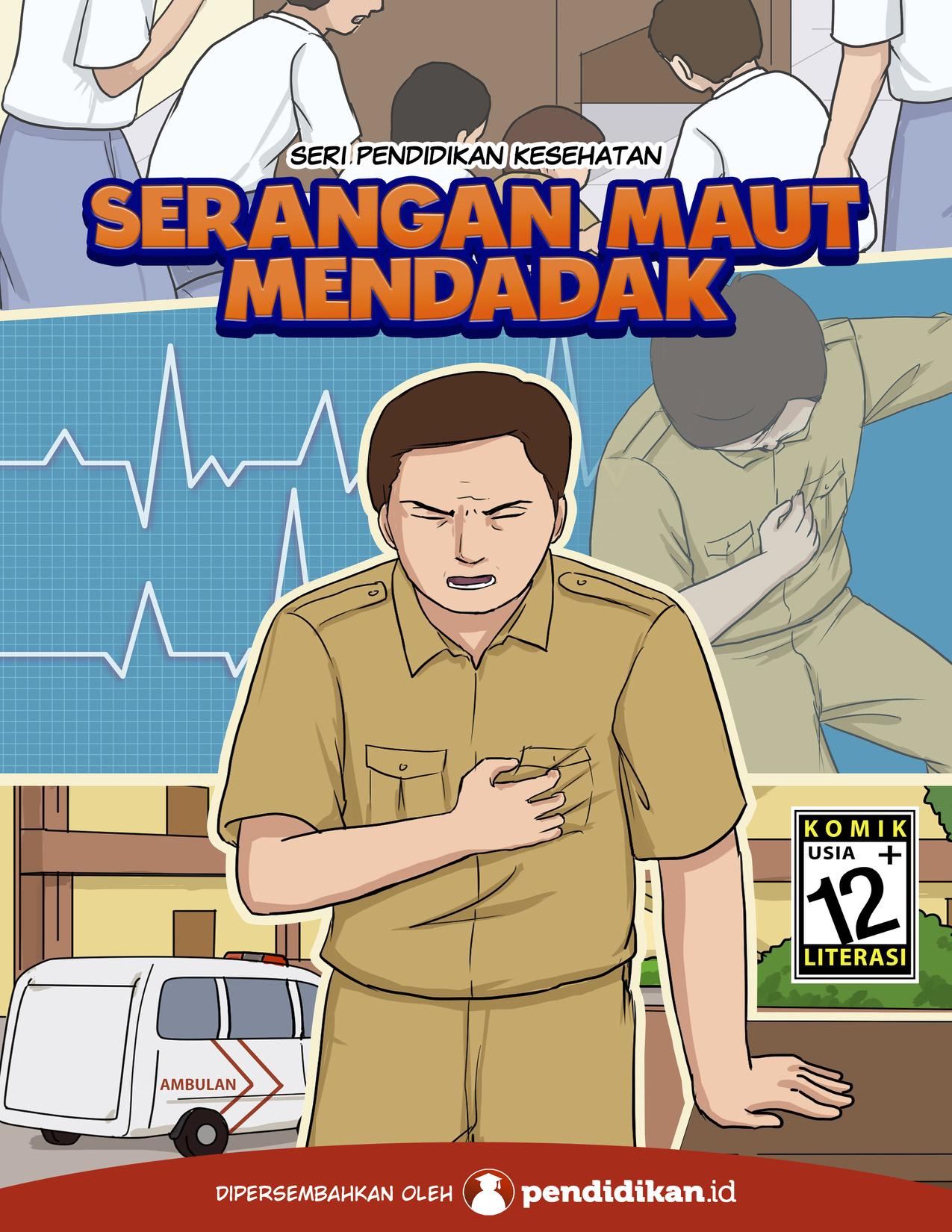 Sampul komik Serangan Maut Mendadak   Foto: pendidikan.id