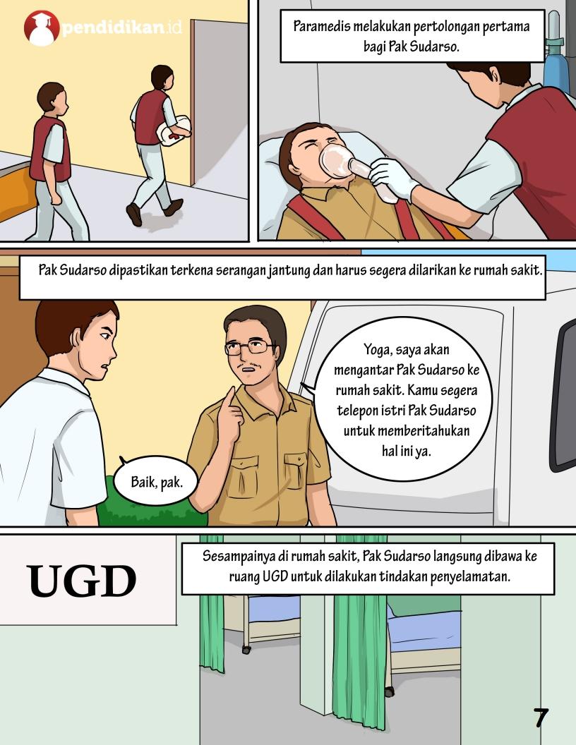 Salah satu halaman di komik Serangan Maut Mendadak | Foto: pendidikan.id
