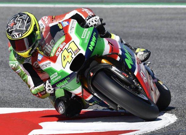 Aleix Espargaro dan helm KYT-nya | Foto: KYT Helmet
