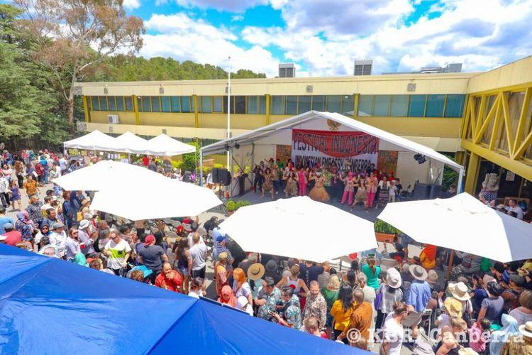 Pemandangan di Festival Indonesia   KBRI Canberra