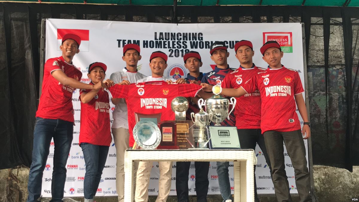 Launching tim Homeless World Cup 2018 | Foto: VoA Indonesia