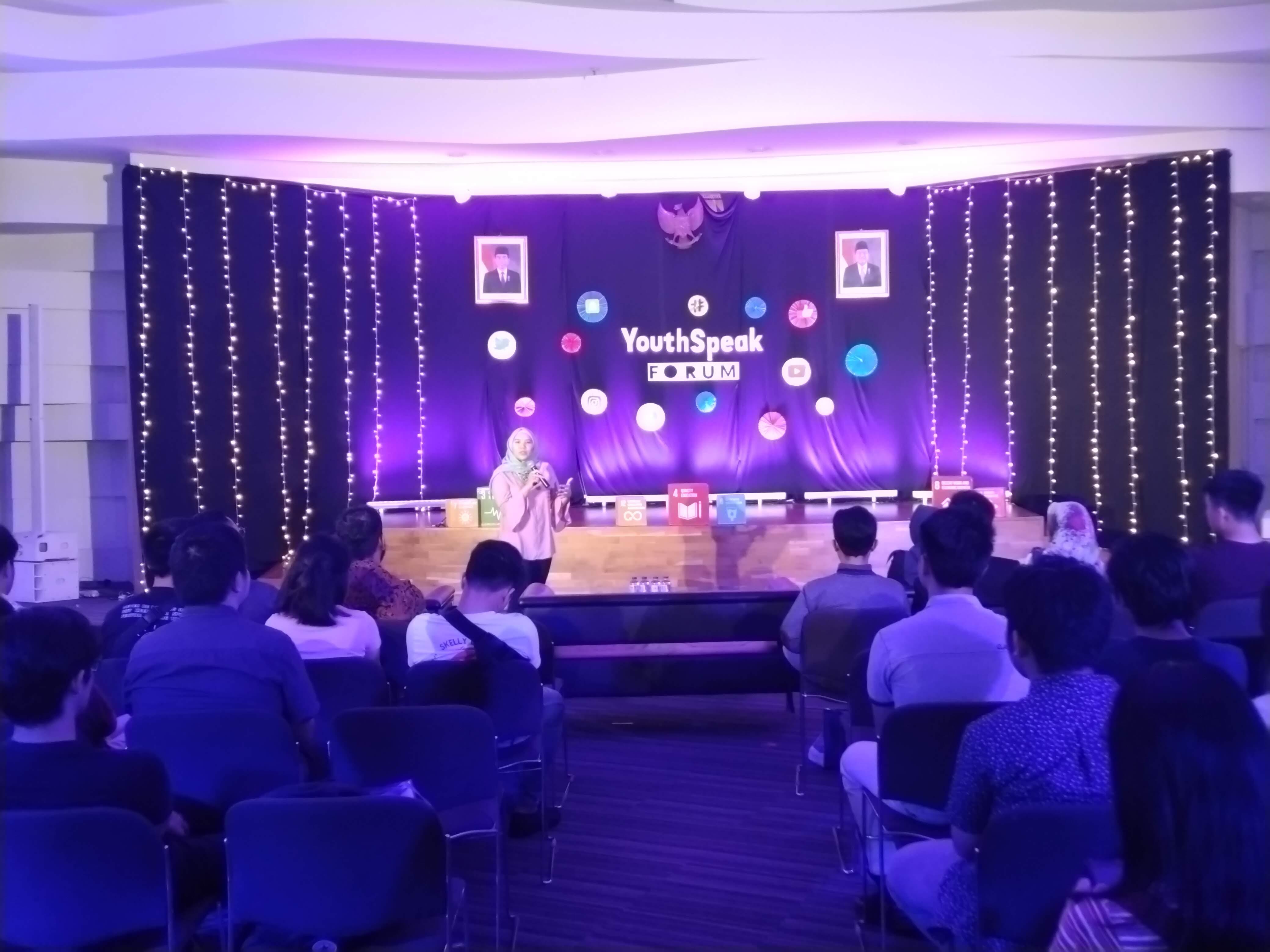 Galih Sikri di acara YouthSpeak Forum   Foto: Aditya Jaya