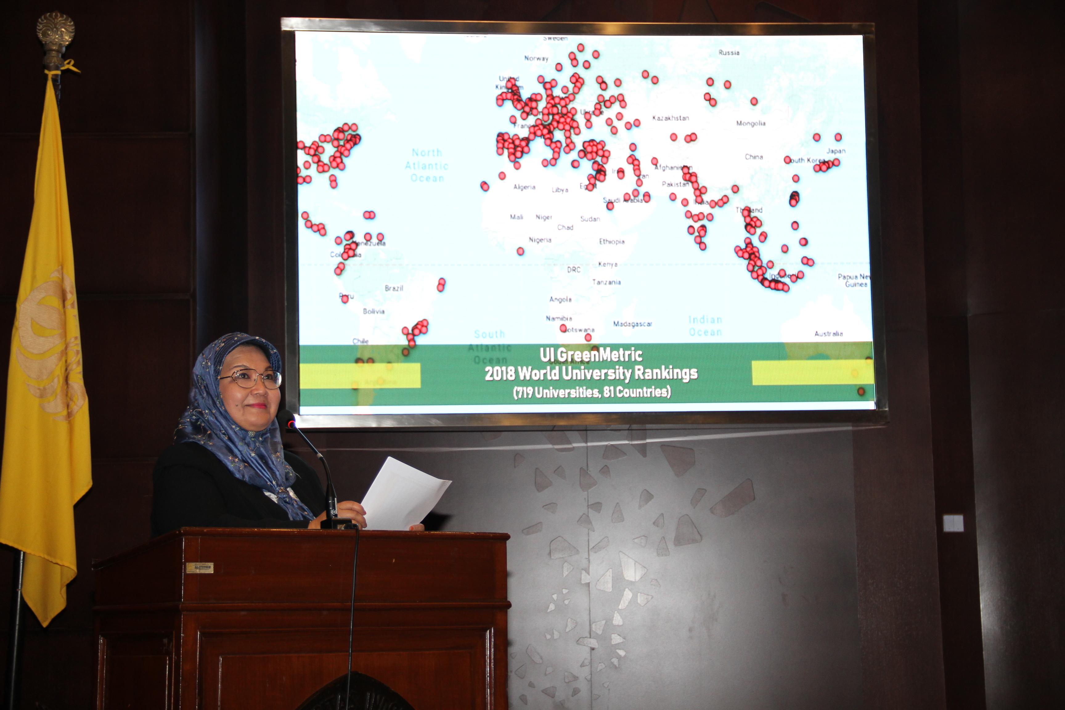 Ketua UI GreenMetric, Prof. Dr. Riri Fitri Sari, M.Sc., MM. | Foto: Humas dan KIP UI