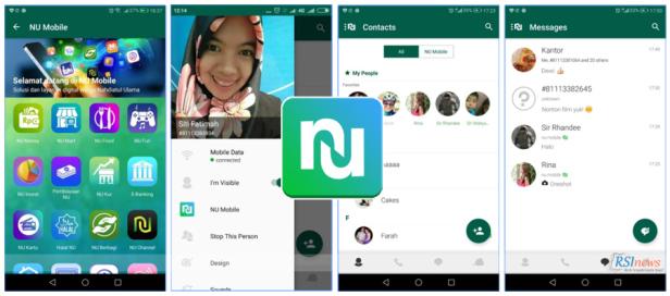 Tampilan aplikasi NU Mobile | Foto: RSI News