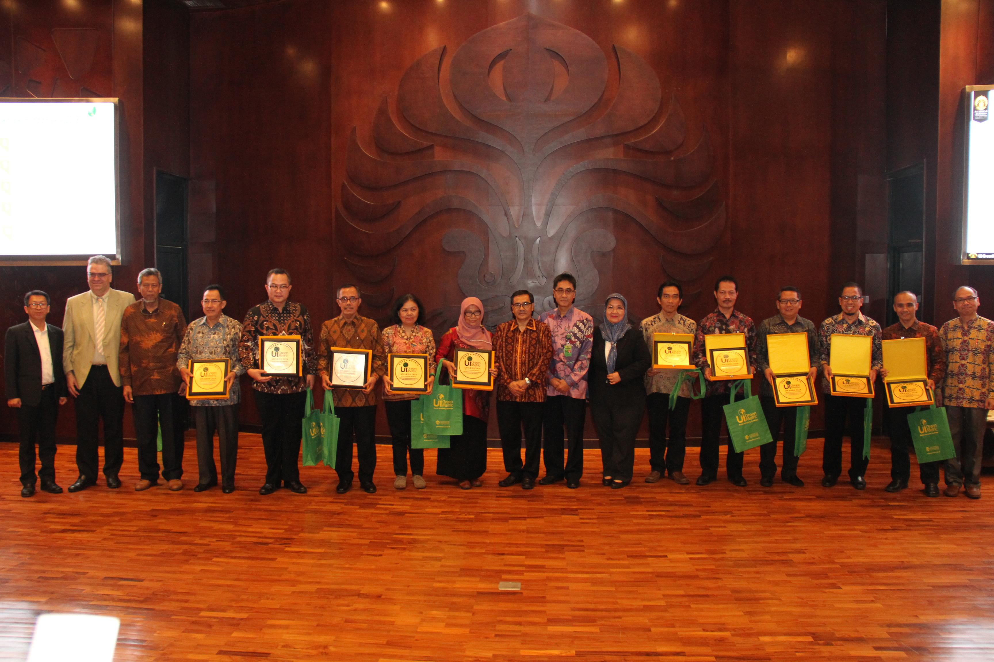 Perwakilan 10 besar Kampus Terhijau di Indonesia | Foto: Humas dan KIP UI