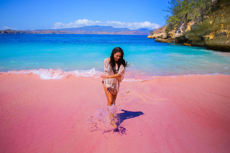 Pesona pasir merah muda di pantai Serai | Foto: The South African