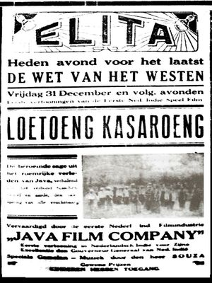 Poster film Loetoeng Kasaroeng (1926) | Sumber: Kompas.com