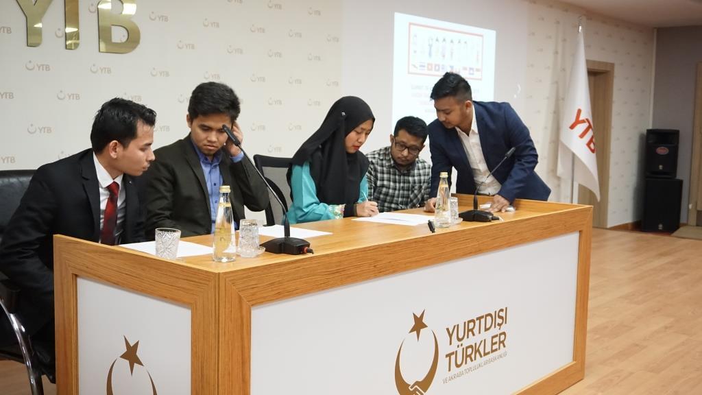 Penandatanganan deklarasi komunitas pelajar ASEAN di Turki
