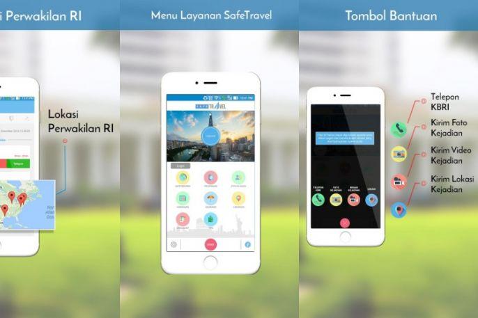 Aplikasi Safe Travel (sumber : Batok.co )
