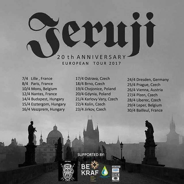 Jadwal konser Band Jeruji di Eropa (Facebook Jeruji)