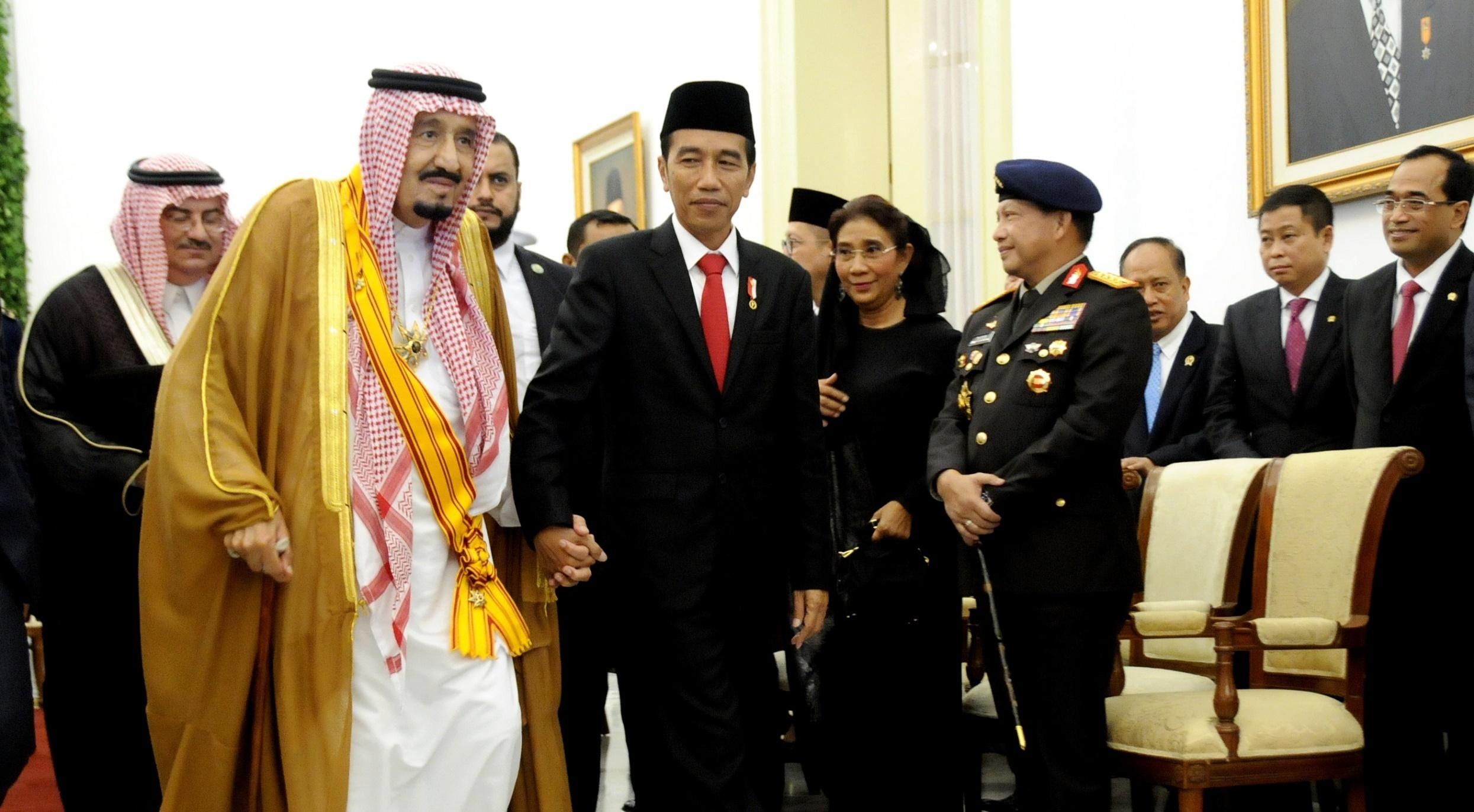 Raja Salman dan  Presiden Joko Widodo (Sumber