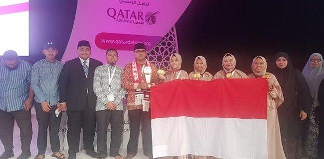 Anak Indonesia yang berhasil meraih juara debat bahasa Arab di Qatar (sumber : RMOL Sumsel)