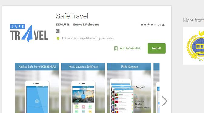 SafeTravel Apps (sumber :Liputan6 | Lifestyle)