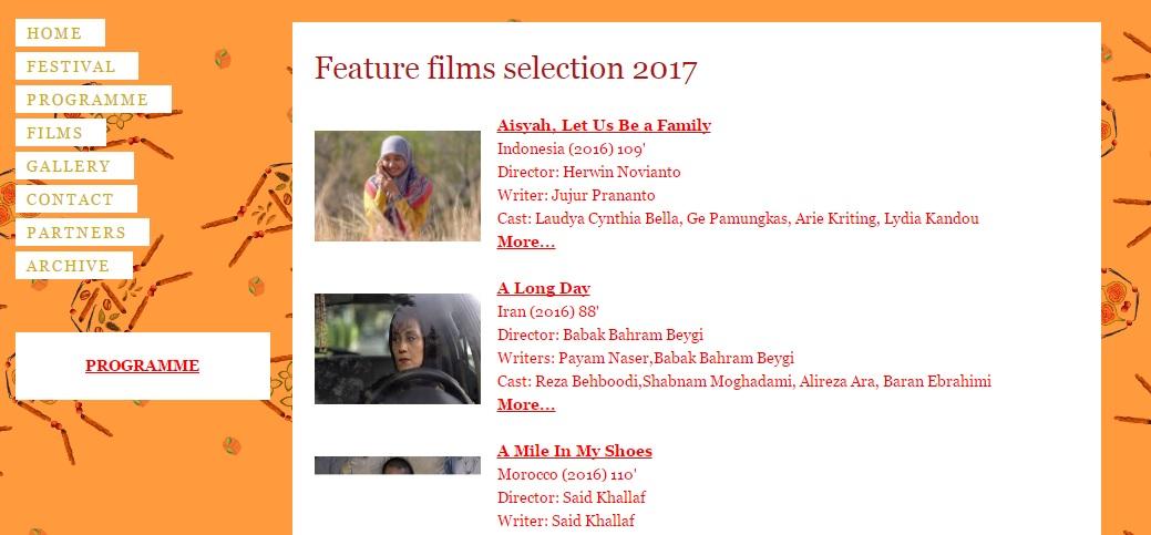 Film Indonesia yang terpilih di Menar Film Festival (Sumber : Menar Film Festival Website)