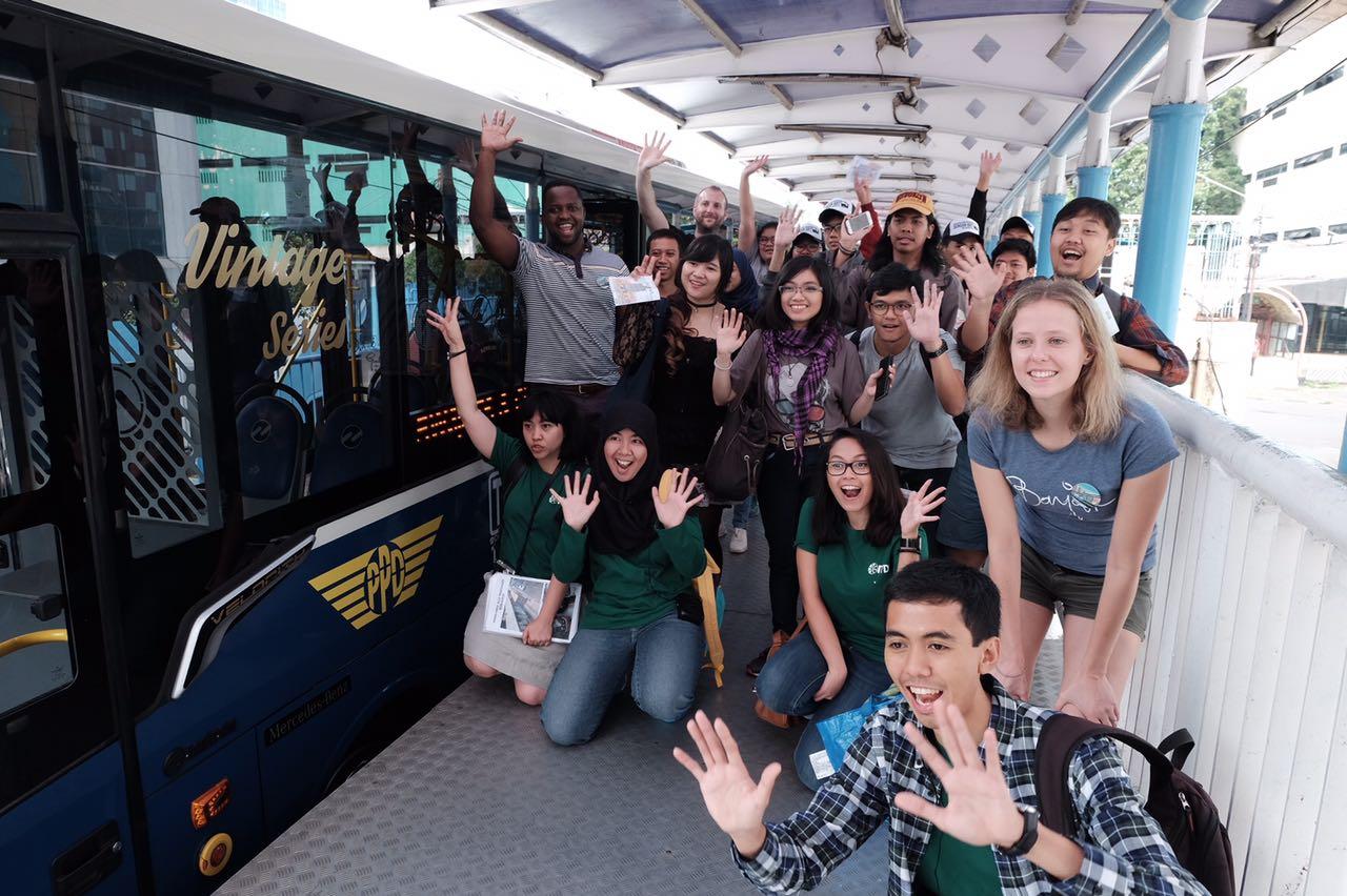 Rombongan Site Visit Busway edisi Melawai. © ITDP