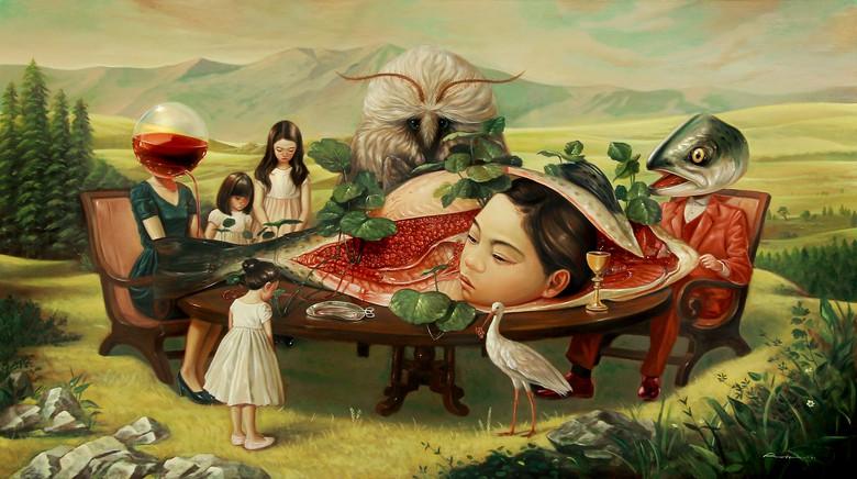 Pelukis Pop Surealis Indonesia yang Mendunia dengan Dunia