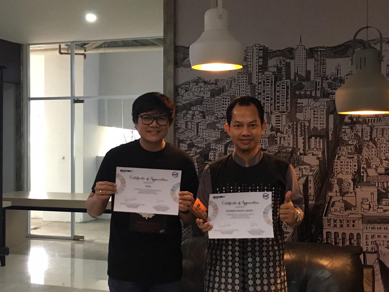Pembicara Impact Circle October 2018, Achmad Syaiful Bahri dan Fafa
