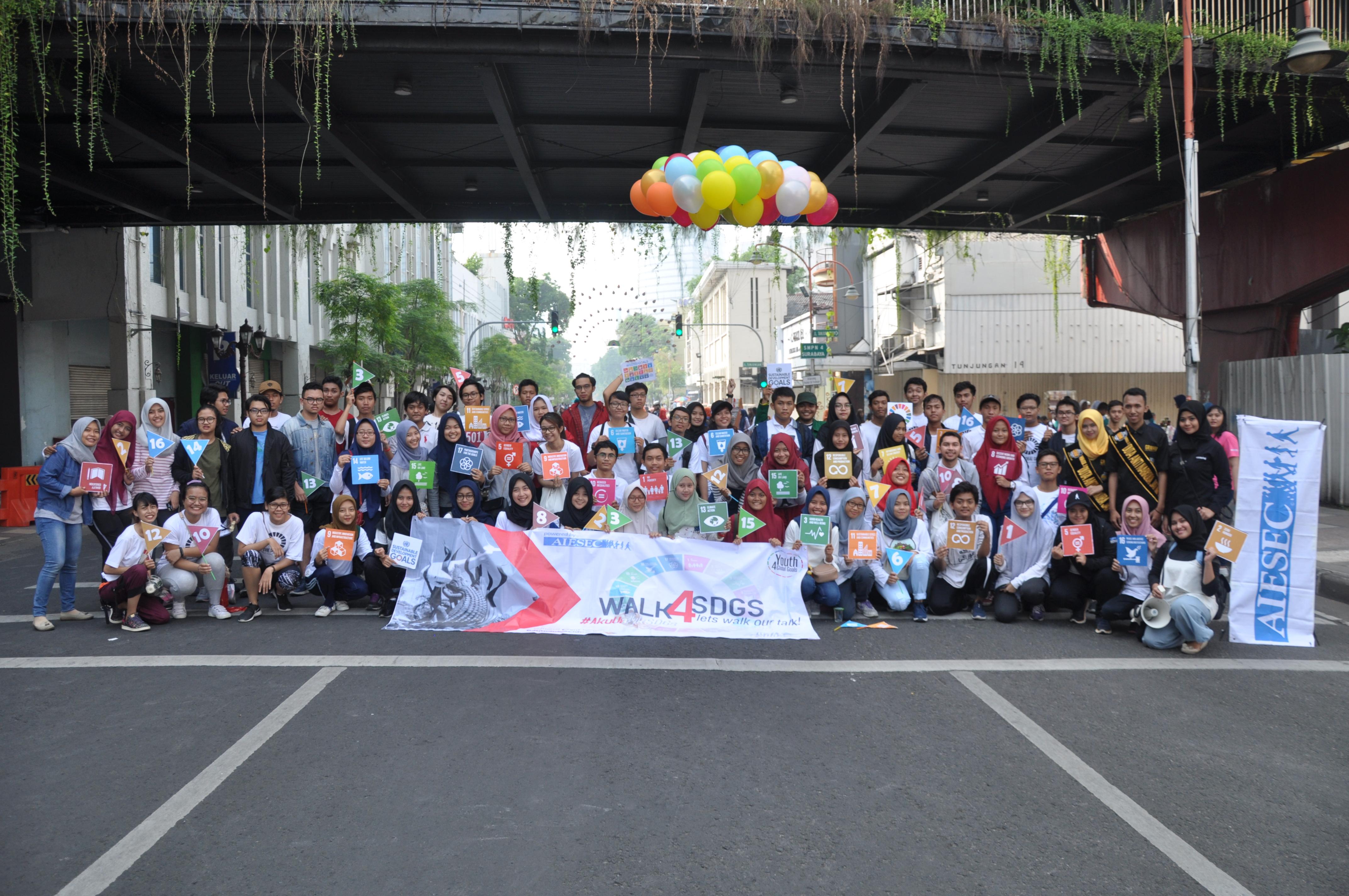 Kegiatan kampanye Walk 4 SDGs Oktober 2017