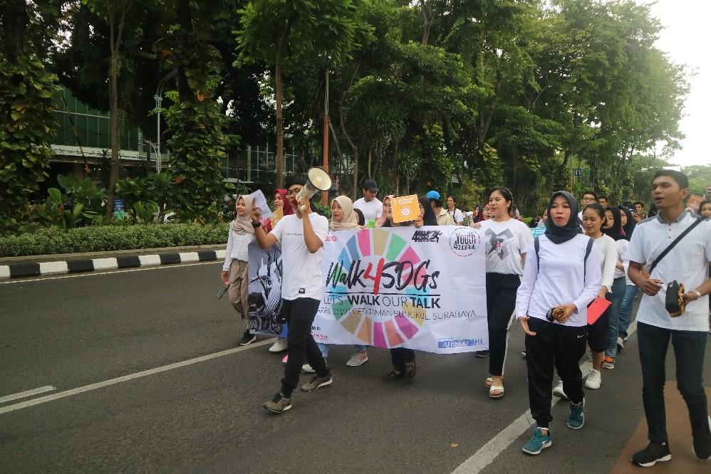 Parade Walk 4 SDGs di CFD Taman Bungkul Surabaya (28/4)