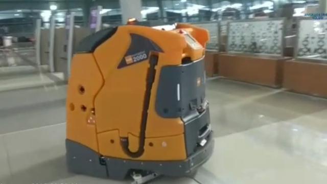 Robotic scrubber drier | Liputan6.com