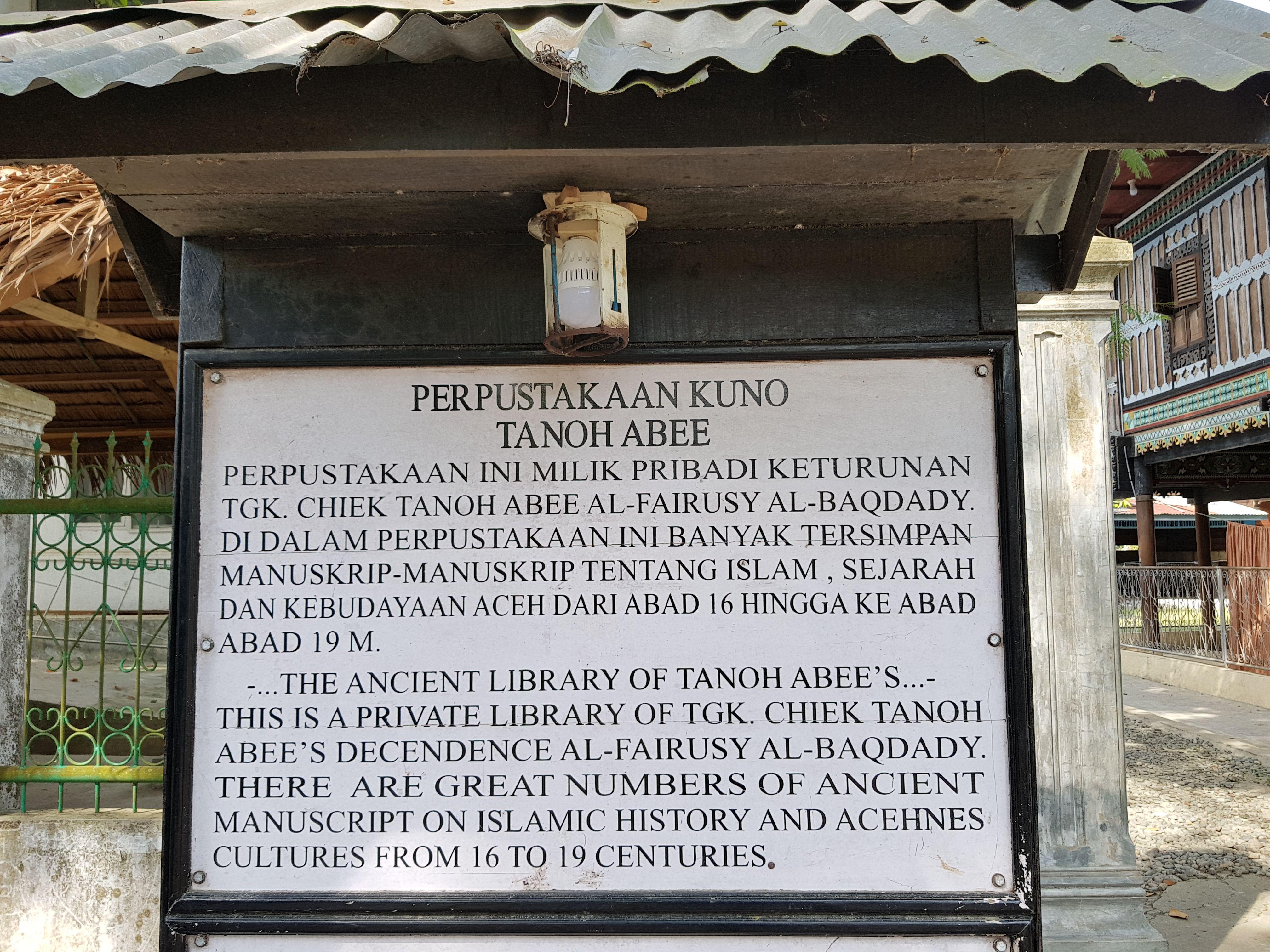 Perpustakaan Tanoh Abee | Sumber dok: Steemit