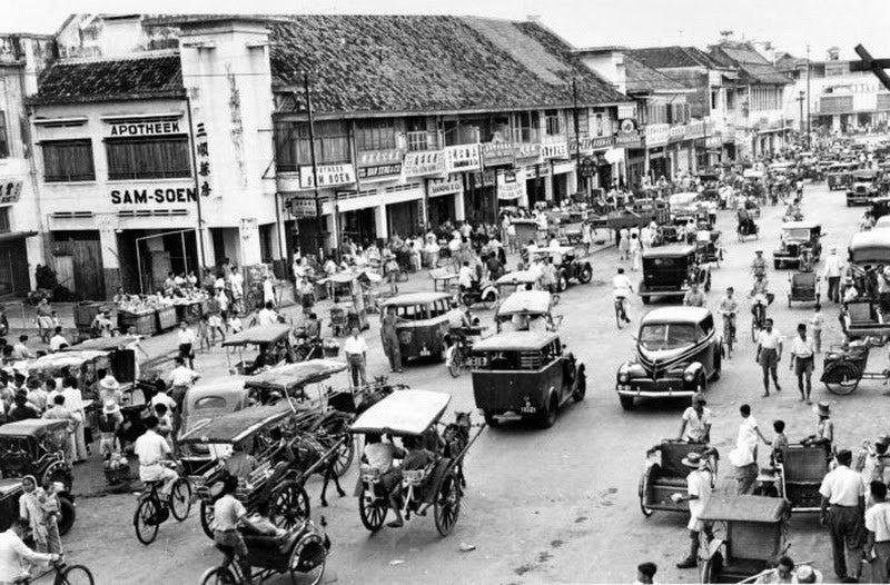 Suasana Lalu Lintas Jakarta Pada 1960 | Sumber dok: Twitter