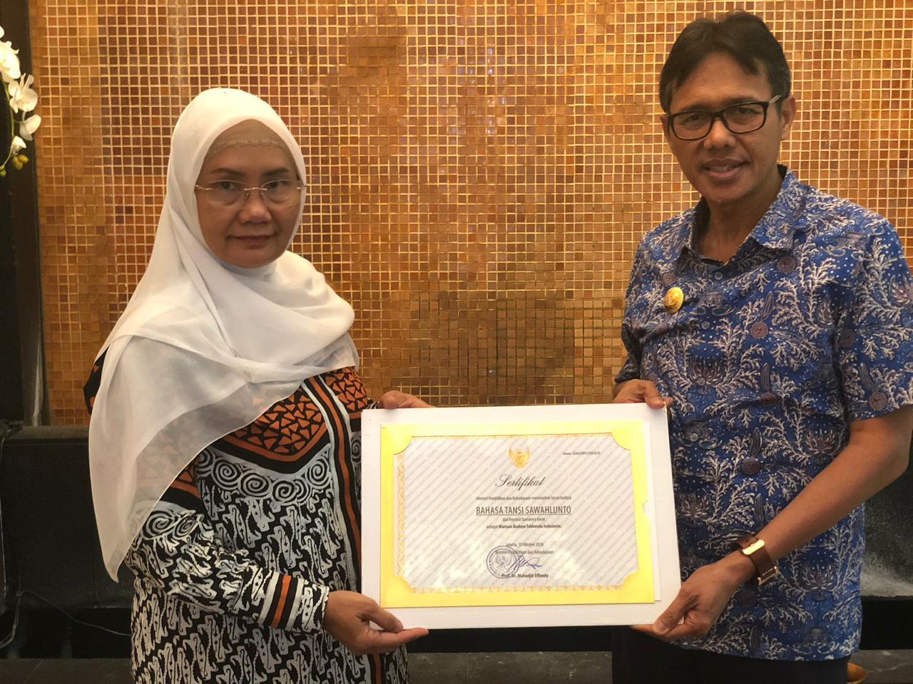 Bahasa Tnasi Sawahlunto Disahkan Sebagai Warisan Budaya Tak Benda | Sumber dok: Jurnal Sumbar