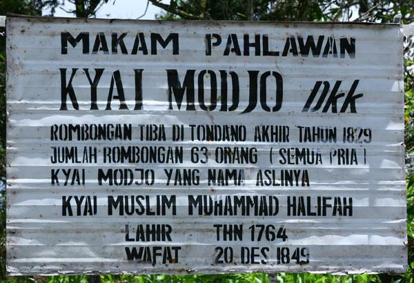 Makam Kyai Modjo dan Sejarah Kedatangannya di Perkampungan Jawa Tondano