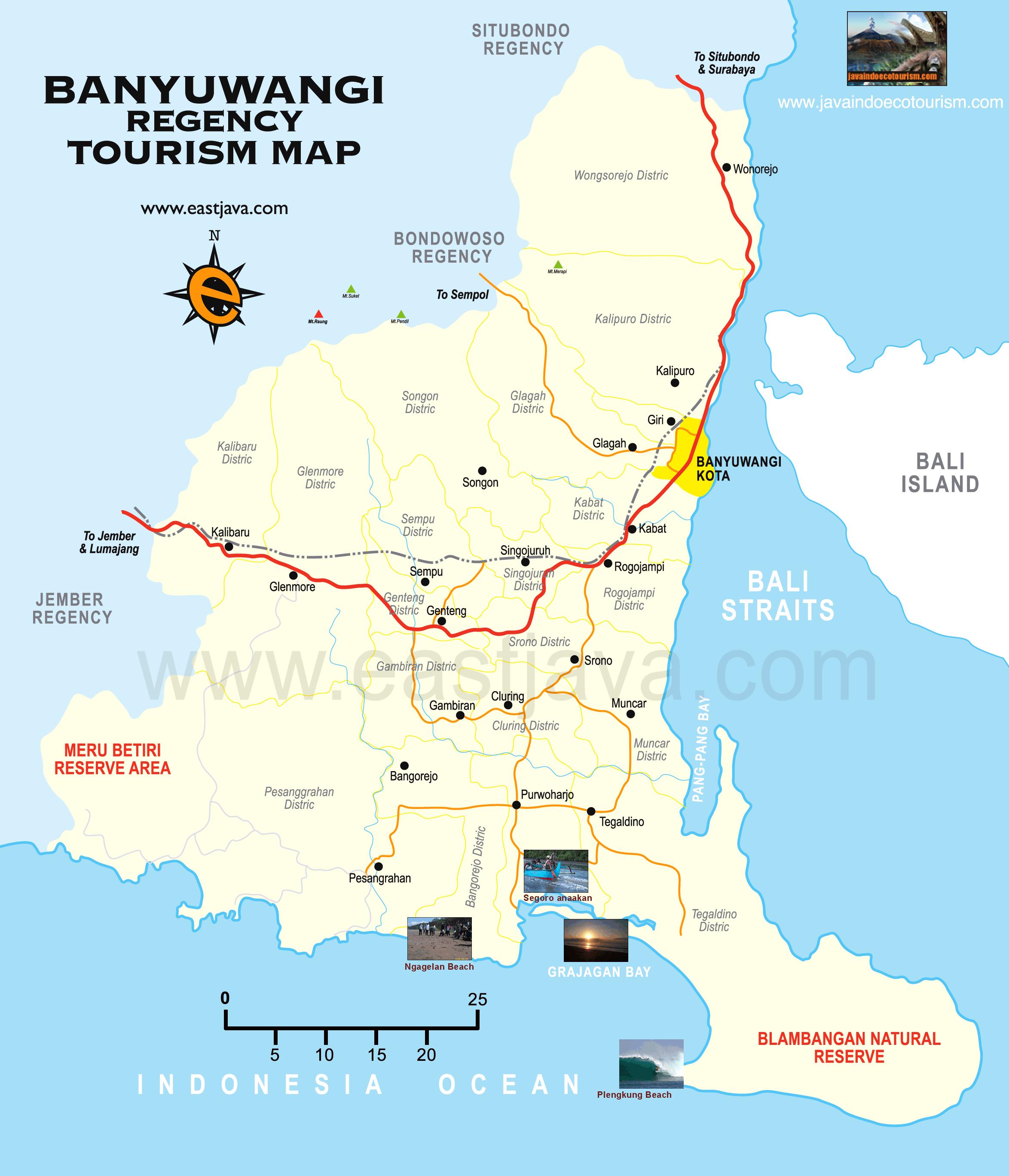 Plengkung Jika Dilihat Dari Peta Kabupaten Banyuwangi