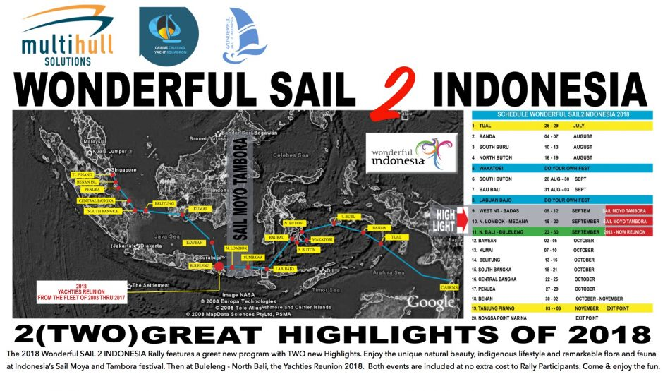 Jadwal Rally Wonderful Sail To Indonesia