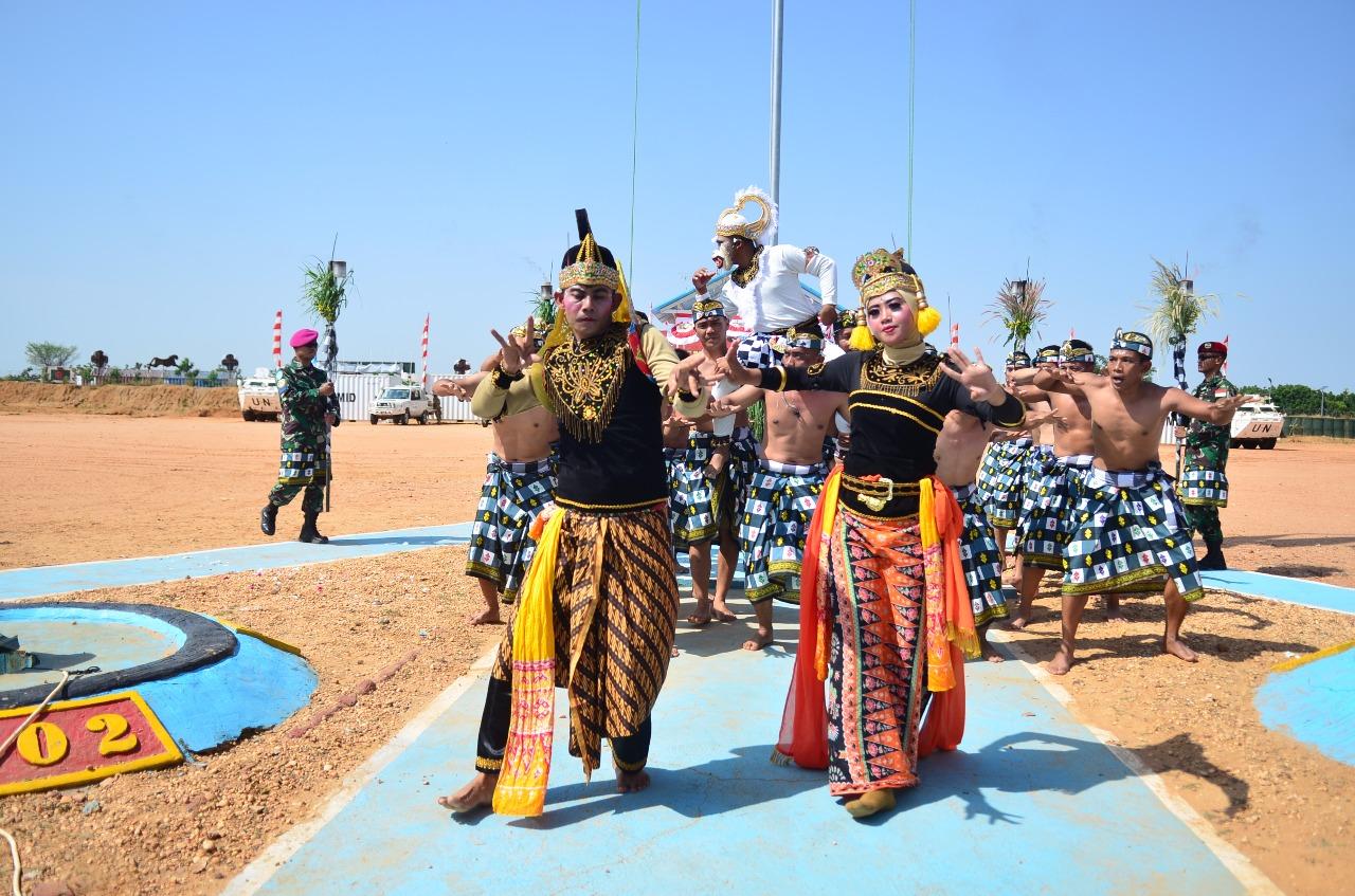 Pertunjukan Budaya Usai Upacara Berlangsung | Sumber dok: Satgas Kontingen Garuda XXXV-D di Sudan