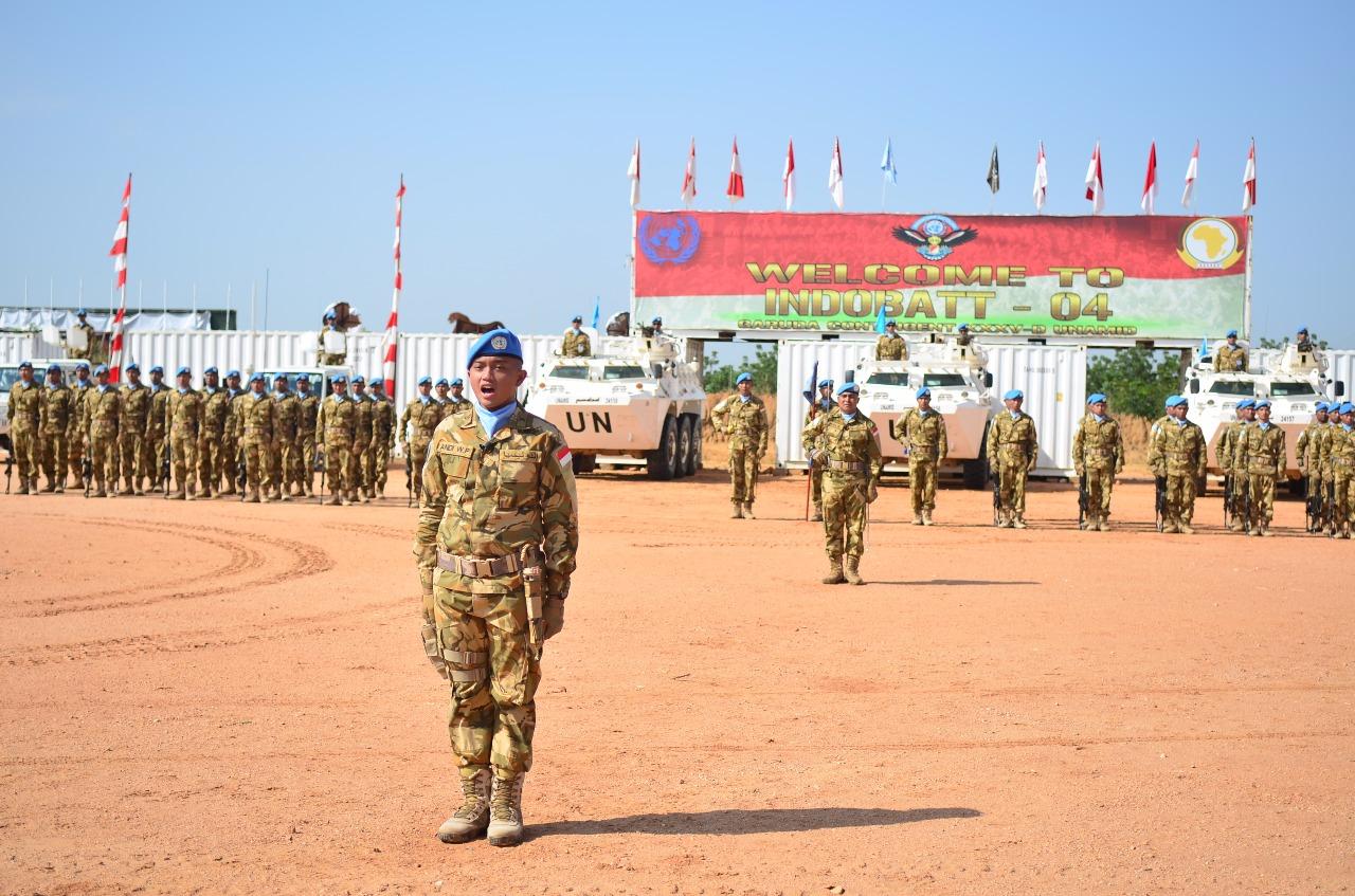Peringatan Upacara HUT Ke-73 TNI di Sudan | Sumber dok: Satgas Kontingen Garuda XXXV-D di Sudan