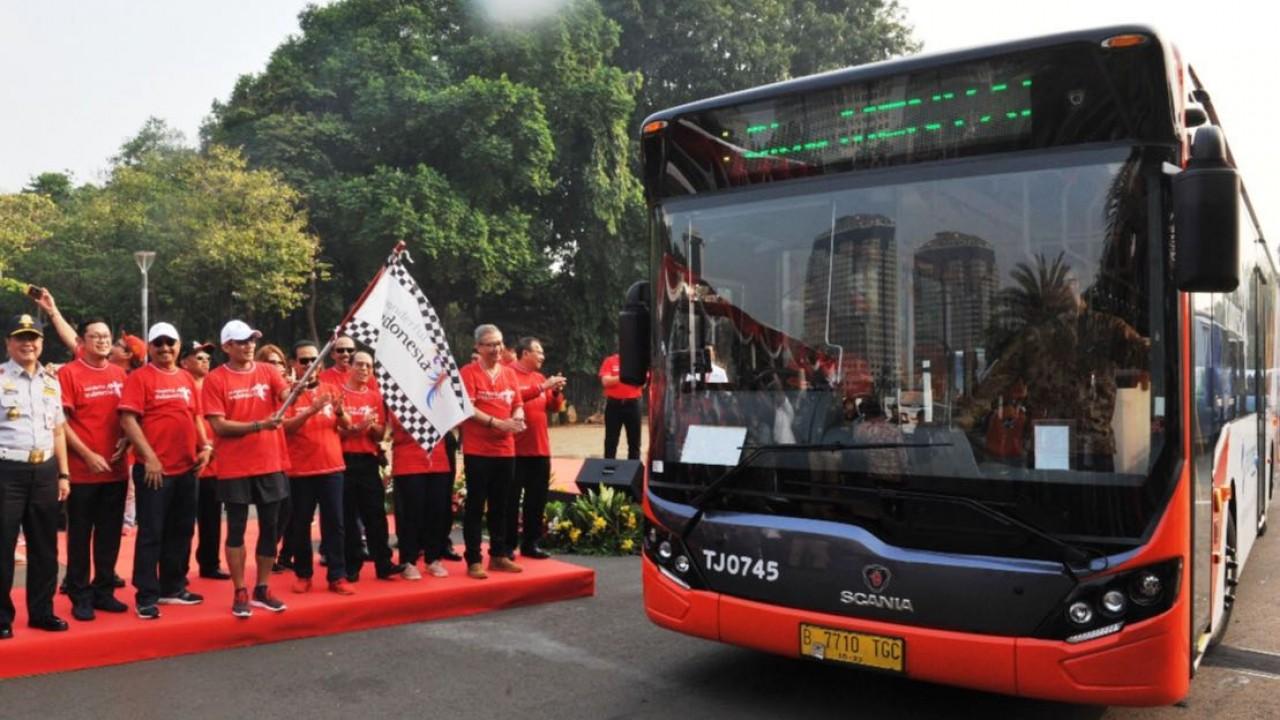 Branding Bus Wonderful Indonesia di Monas Beberapa Waktu Lalu | Sumber: BreakingNews