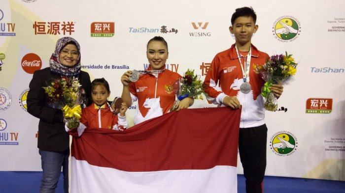 Atlet Wushu Indonesia Berhasil Kumandangkan Lagu Indonesia Raya di Brasil (Sumber dok: Tribun News)