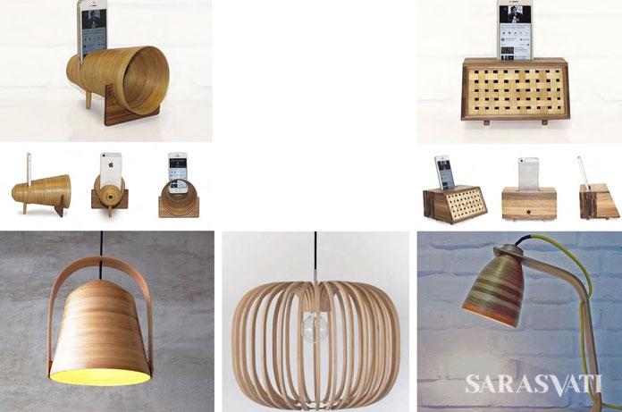 Pendant Lamps, Acoustic Amplifier | foto : sarasvati.com