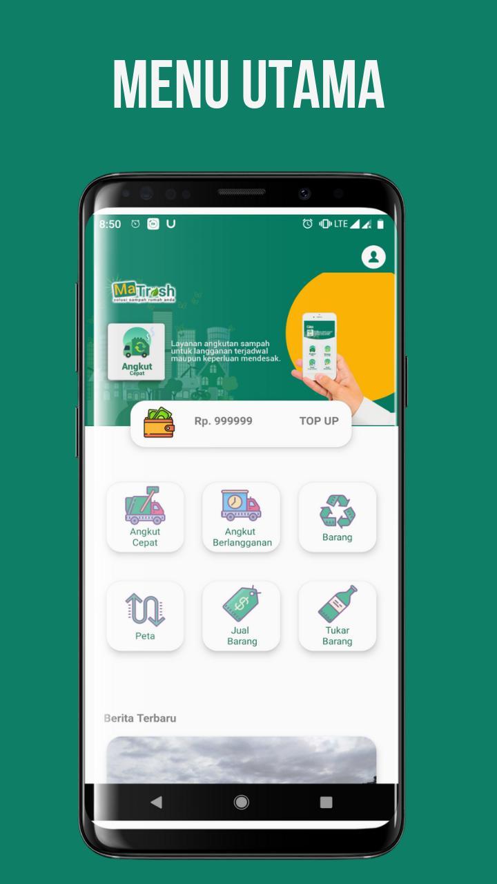 Tampilan aplikasi Matrash | Foto: apkpure.com