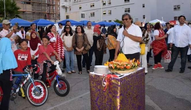 Suasana perayaan hari kemerdekaan Republik Indonesia ke-71 di KJRI Los Angeles (Foto: KJRI LA)