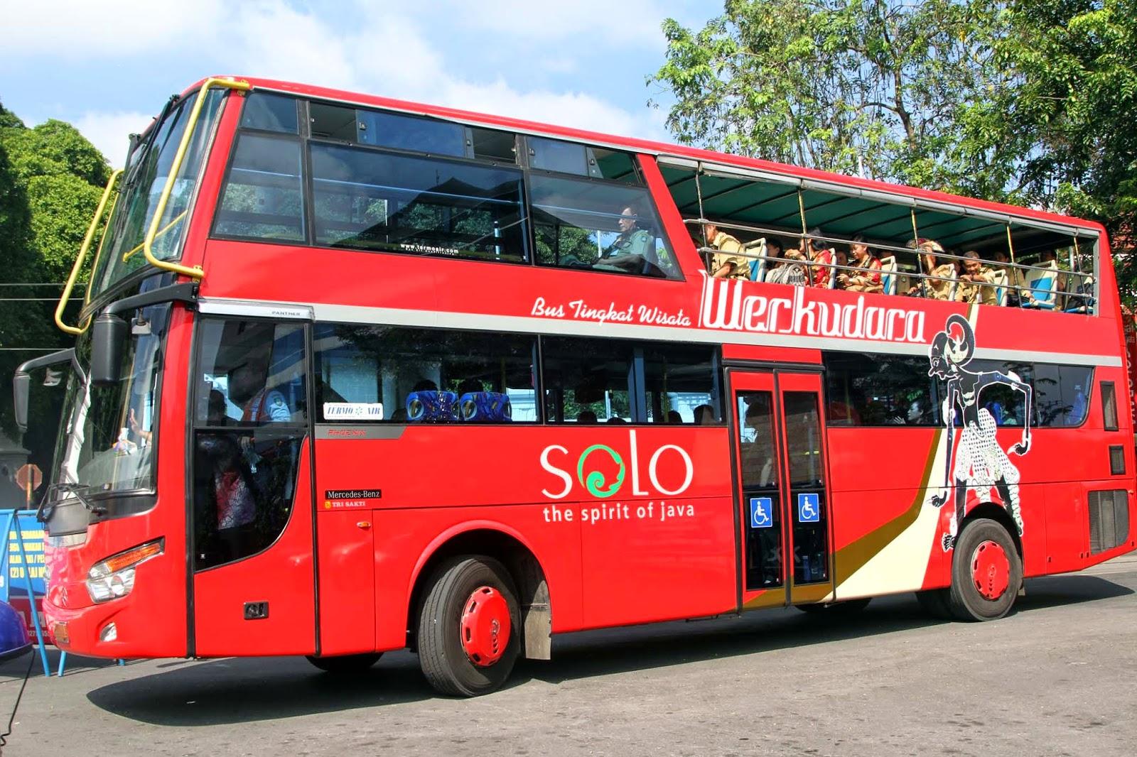 Naik Bus Werkudara, wisatawan harus membayar tiket Rp20.000/ orangnya