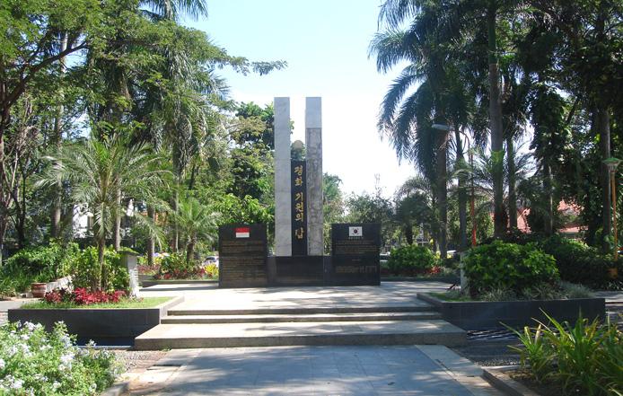 Taman Korea di Surabaya diresmikan tahun 2010 (foto: superkidsindonesia.com)