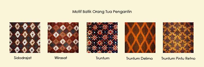 Motif-motif batik yang dikenakan oleh pengantin (foto: http://mantenhouse.com)