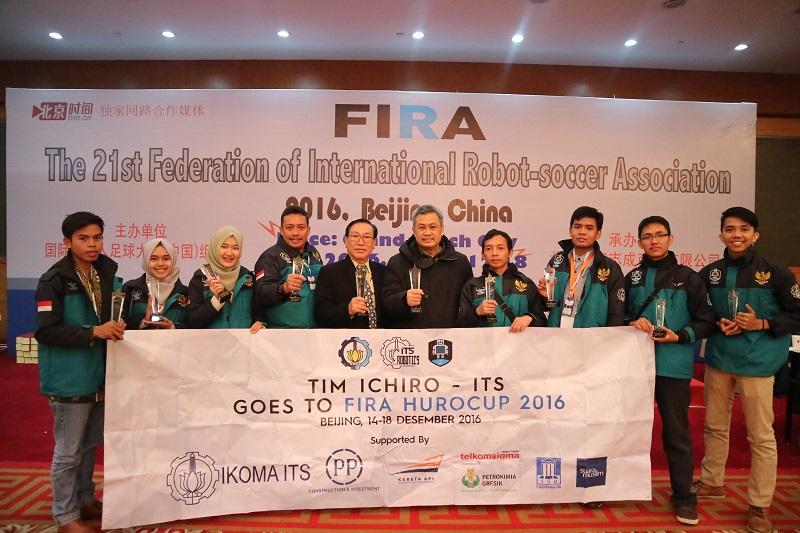 Tim Ichiro berhasil menjadi juara umum II dan III di ajang FIRA Hurocup 2016 di Beijing, Tiongkok (Foto: tim Ichiro)