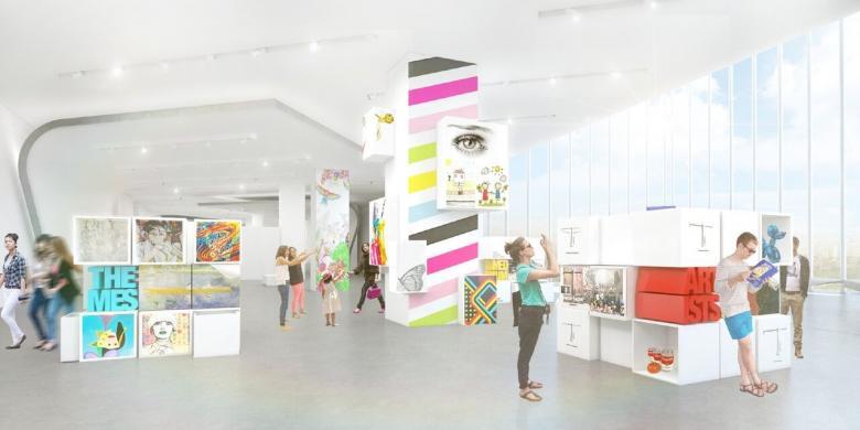 Desain ruangan di Museum MACAN sangat interaktif dengan pengunjung (foto: MACAN)