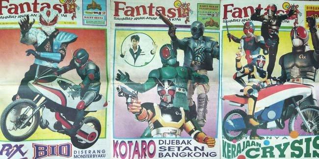 """Tabloid """"Fantasia"""" adalah tabloid anak-anak yang mengulas serial fantasi dan game anak-anak pada masa itu"""