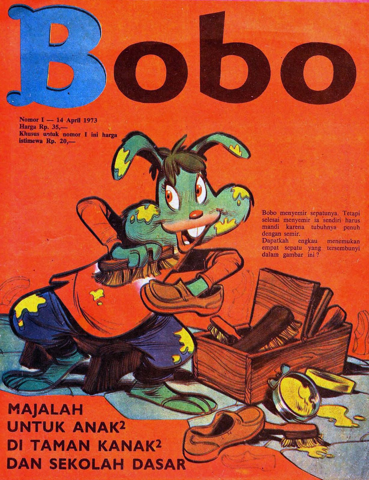 """Sampul majalah """"Bobo"""" edisi pertama tahun 1973"""