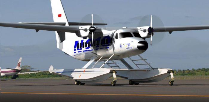 Bila sudah mendapatkan lisensi, PT DI akan mengembangkan pesawat N219 versi amfibi (foto: beritagar.id)
