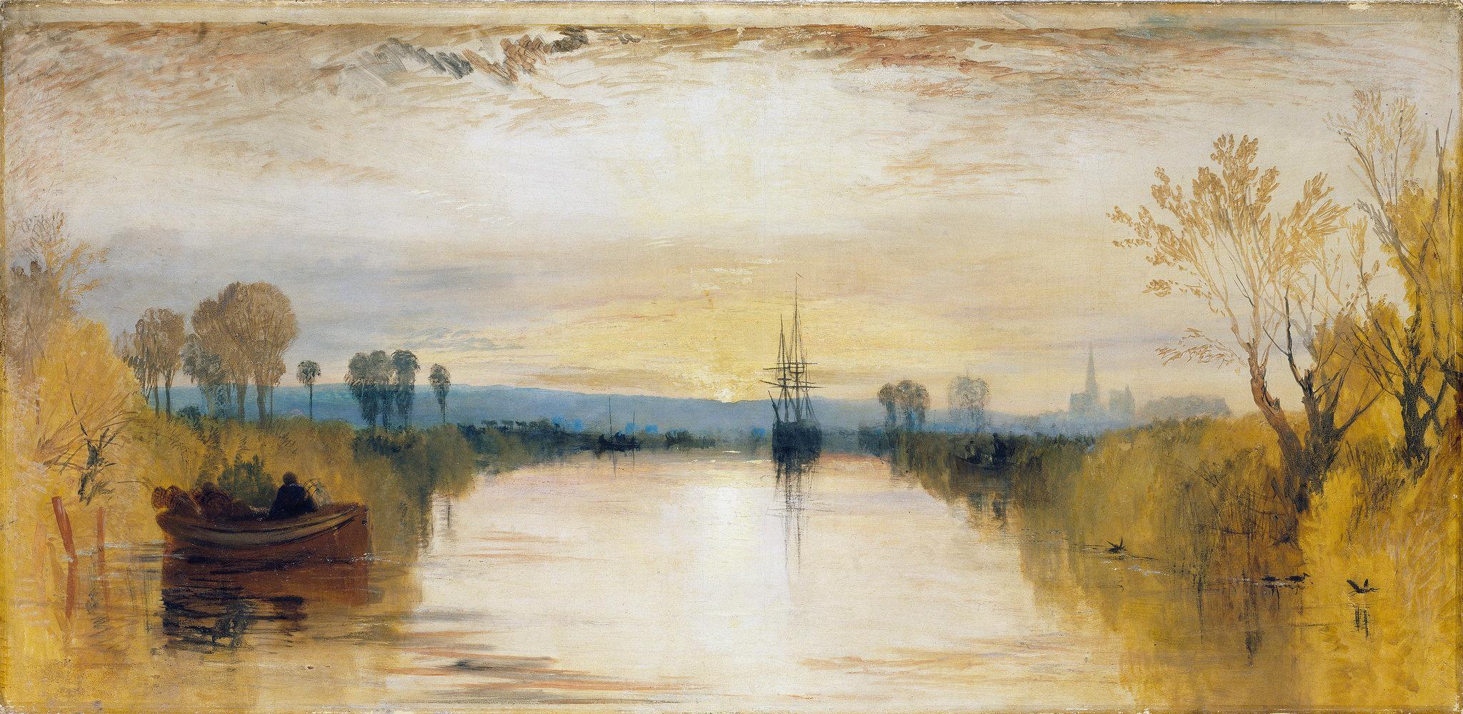 Lukisan karya J.M.W Turner yang menggambarkan suramnya musim panas di Inggris