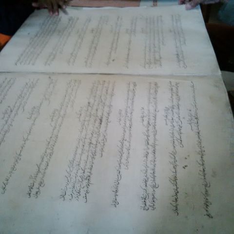 Naskah Bo Sangaji Kai (foto: detikcom/ Nur Khafifah)